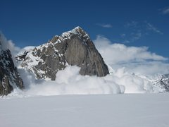 Rock Climbing Photo: Massive icefall coming off Dickey and rocking the ...