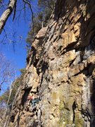 Rock Climbing Photo: Holy War, Foster Falls, TN