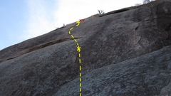 Rock Climbing Photo: Prok. The bolt location is estimated, according to...