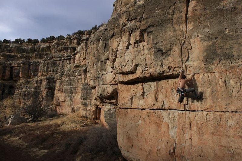 Rock Climbing Photo: crux. photo by Lindsey Western