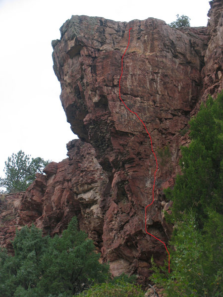 Rock Climbing Photo: a closer look at Sean's Route