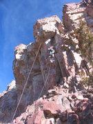 Rock Climbing Photo: Ryan beginning Ecoblast