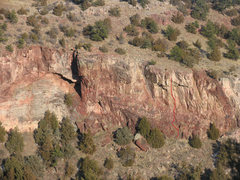 Rock Climbing Photo: Topo pic of Oregon Trail Romance