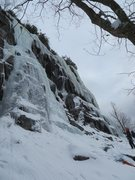 Rock Climbing Photo: Gros Bras on the left, Petit bras further right. P...