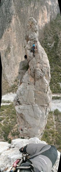 Rock Climbing Photo: Crowded day at the spires. Thanks to the guy who t...