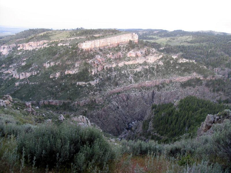 Parking Lot view into Box Elder Canyon