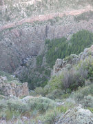 Rock Climbing Photo: A view after starting down the ad hoc fishing trai...