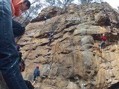 Rock Climbing Photo: Brad on Green Goblin 5.8