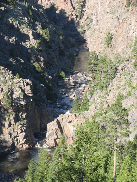 A zone of the canyon between the 2 major narrows