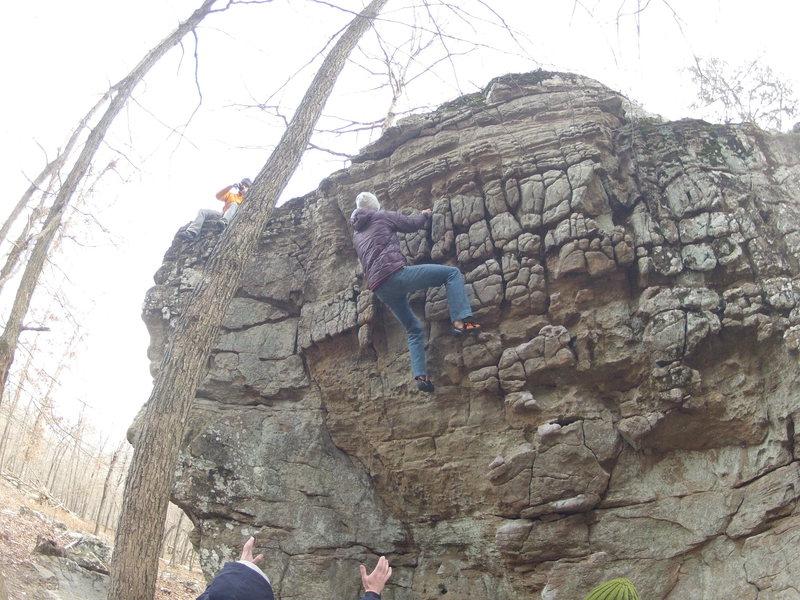 Rock Climbing Photo: Eric on The Donkey Show (V0-)