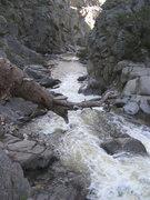 Rock Climbing Photo: Stream gauge at 55cfs
