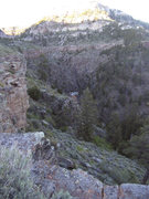 Rock Climbing Photo: View from 2/3 down on the ad hoc fishing trail loo...