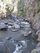 Rock Climbing Photo: Trail bottom looking upstream