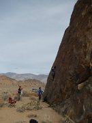 Rock Climbing Photo: Puttin' er up! The page author punchin' holes whil...