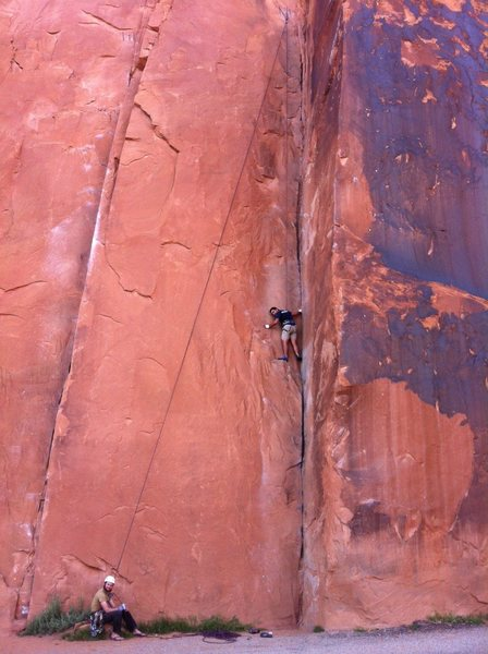 30 seconds over potash, first time ever climbing a real rock.