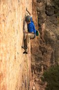 Rock Climbing Photo: Staying focused on the hard moves before the break...