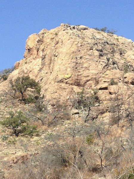 Rock Climbing Photo: Turkey Ridge as seen from Sandy Creek.