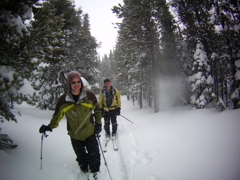 Back-country Skiing with Mike Colacino, Bill Duncan and John Durr.  Feb 2014