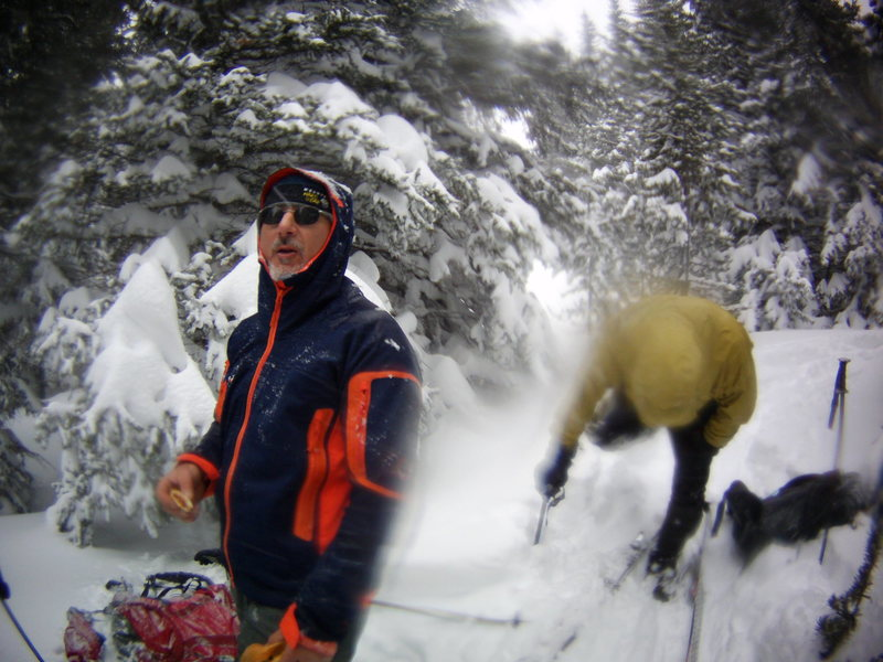 Back-country Skiing with Mike Colacino, Bill Duncan and John Durr. Feb 2014<br>