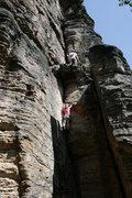Rock Climbing Photo: Elbsandstein, neighboring route