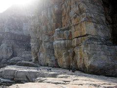 Rock Climbing Photo: Sunflare