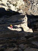 Rock Climbing Photo: High up on 'Three Hour Arete'