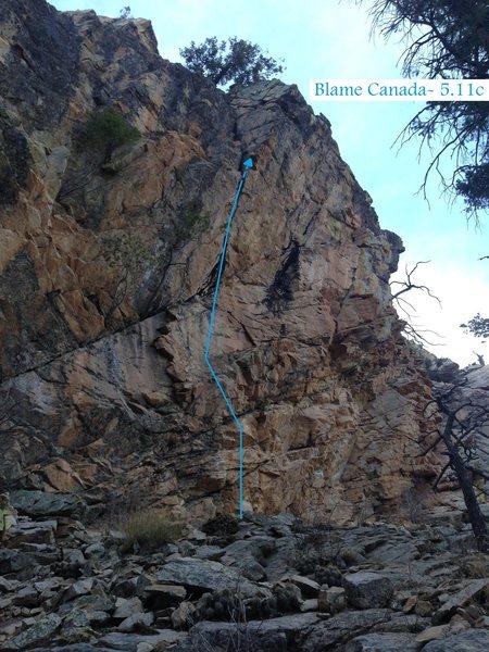 Rock Climbing Photo: Blame Canada (February 2014)