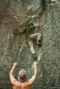 Rock Climbing Photo: Andrew Bellisle on Once Upon A Time (V3) Photo Cre...