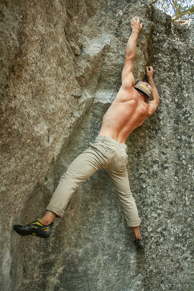Rock Climbing Photo: Buck Yedor on Once Upon A Time (V3) Photo Credit t...