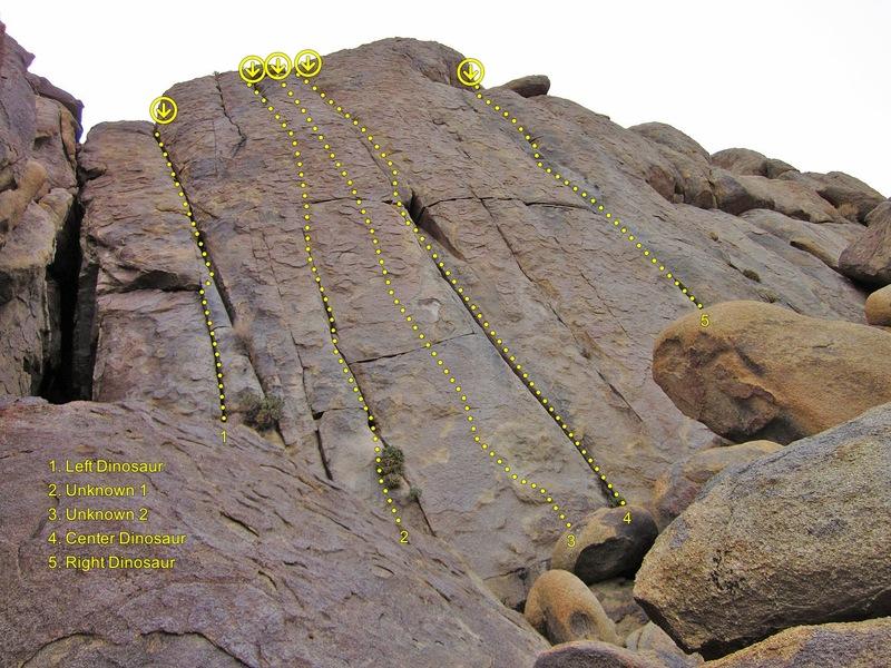 Rock Climbing Photo: Dinosaur Cracks formation