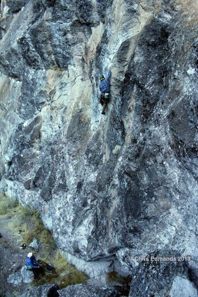 Rock Climbing Photo: Garrett Froelich entering the crux.