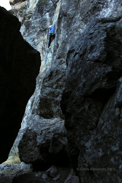 Rock Climbing Photo: Ashley Hutchinson about to leave the hard stuff be...