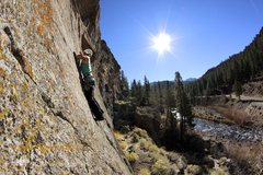 Rock Climbing Photo: Ashley Hutchinson at the second bolt on the shared...