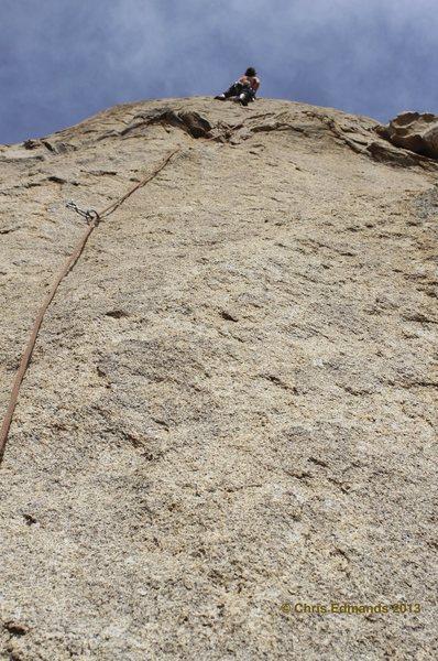 Rock Climbing Photo: Bethany on pitch three. Bolt, gear, bolt, then not...