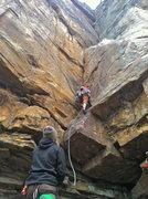 Rock Climbing Photo: Tim on lead.