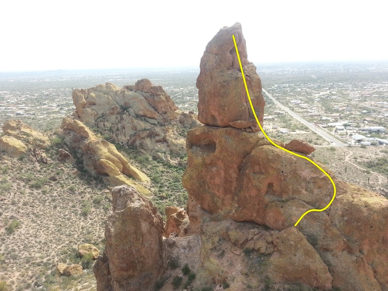 A view of the Gordon-Collins on Greevers' Needle.