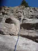 Rock Climbing Photo: A close view of the route.