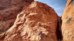 Rock Climbing Photo: G getting into the Potstash
