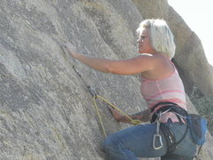 Rock Climbing Photo: Aubrey Adams gettin' to it....