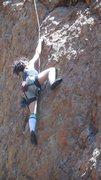 "Rock Climbing Photo: Maidy on ""Tea Bag."""