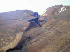 Rock Climbing Photo: Sending Bastille Crack Eldorado Canyon