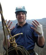 Rock Climbing Photo: At the belay after 1st pitch of Unfinished Concier...