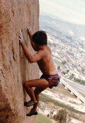 Rock Climbing Photo: John Long Boulder, J Elvis, v4- 1984 Mike Fogarty