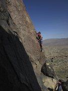 Rock Climbing Photo: Susan at the start of Pod Races.