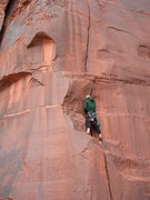 Rock Climbing Photo: Joe doing his best to warm his hands.