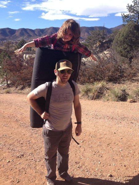 Rock Climbing Photo: bouldering kid pack