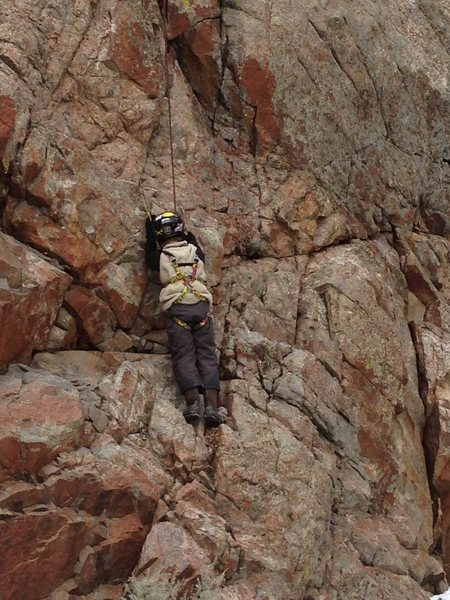 Rock Climbing Photo: What message is this 9-year old kid taking away fr...