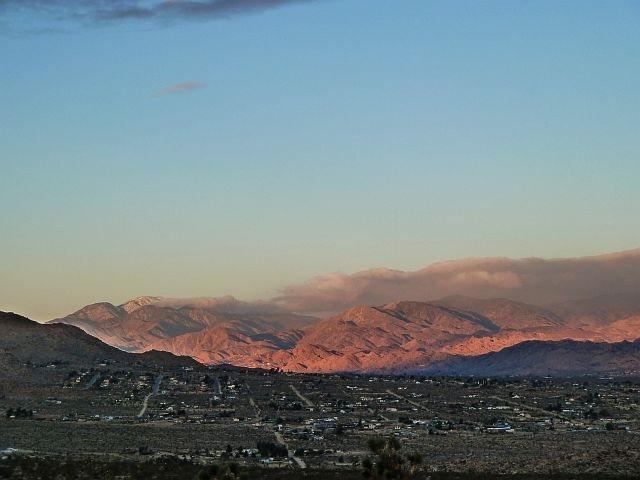 The town of Joshua Tree and San Bernardino Mountains, Joshua Tree Area