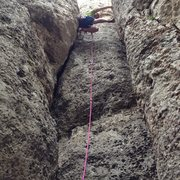 Rock Climbing Photo: Mad stemming on phat finger frenzy