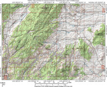 Rock Climbing Photo: MAP 1:  Approx a 10 mile square Regional Map for R...